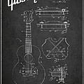 Mccarty Gibson Stringed Instrument Patent Drawing From 1969 - Dark by Aged Pixel
