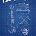 Mccarty Gibson Stringed Instrument Patent Drawing From 1969 - Bl by Aged Pixel