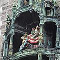 Mechanical Clock In Munich Germany by Howard Stapleton