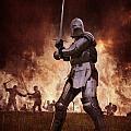 Medieval Knights In Battle by Lee Avison