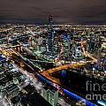 Melbourne At Night Vi by Ray Warren