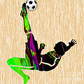 Womans Soccer by Marvin Blaine