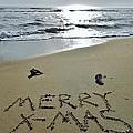 Merry Christmas Sand Art 5 12/25 by Mark Lemmon