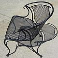 Metal Chair And Shadow 5 by Anita Burgermeister