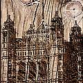 Metal England Castle by Debra     Vatalaro