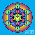 Metatron's Cube With Merkaba by Galactic  Mantra