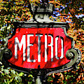 Metro Sign, Paris, France by Panoramic Images