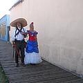 Mexican Revolutionary Re-enactor With His  Lady Helldorado Days Tombstone Arizona 2004 by David Lee Guss