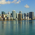 Miami Brickell Skyline by Raul Rodriguez