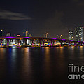 Miami Night Skyline by Andres Leon