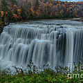Middle Falls At Letchworth State Park by Steve Clough