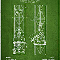 Mine Elevator Patent From 1892 - Green by Aged Pixel