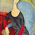 Mme Hebuterne In A Blue Chair by Celestial Images