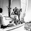 Models On A Sailboat by Richard Waite
