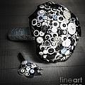 Modern Button Design Wedding Bouquet by Jorgo Photography - Wall Art Gallery