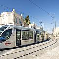 Modern Tram In Central Jerusalem Israel by Jacek Malipan