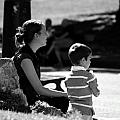 Mom And Son In The Park by Giuseppe Ridino