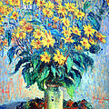 Monet's Jerusalem  Artichoke Flowers by Cora Wandel