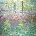 Monet's Waterloo Bridge In London At Dusk by Cora Wandel