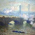 Monet's Waterloo Bridge On A Gray Day by Cora Wandel