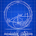 Monocycle Patent 1894 - Blue by Stephen Younts