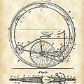 Monocycle Patent 1894 - Vintage by Stephen Younts