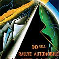 Monte Carlo Rallye Automobile by Vintage Automobile Ads and Posters