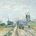 Montmartre Mills And Vegetable Gardens by Vincent Van Gogh