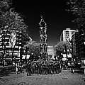Monument To The Castellers On Rambla Nova Avenue In Central Tarragona Catalonia Spain by Joe Fox