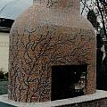 Mosaic Fireplace by Charles Lucas