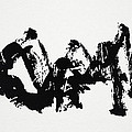 Mountain Avant-garde Calligraphy by Ponte Ryuurui
