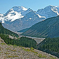 Mountain Peaks From Icefields Parkway-alberta by Ruth Hager