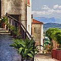 Mountain Village Impasto by Sharon Foster