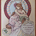 Mucha Poster by Becky Chappell