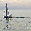 New Photographic Art Print For Sale Sailboat Sailing Peacefully On The Pacific Ocean by Toula Mavridou-Messer