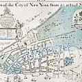 New York City Map, 1728 by Granger