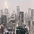 New York City - Snow Covered Skyline by Vivienne Gucwa