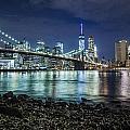 Night View To Manhattan by Alex Potemkin