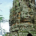 North Gate Of Angkor Thom In Angkor Wat Archeological Park-cambodia by Ruth Hager