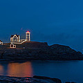 Nubble At Night by Guy Whiteley