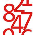 Numbers In Red And White by Jackie Farnsworth