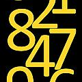 Numbers In Yellow And Black by Jackie Farnsworth