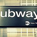 Nyc Subway Sign by Valentino Visentini