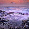 Ocean And Lava Rocks At Sunset Puuhonua by Tim Fitzharris