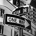 Ocean Drive And 6th Street In The Art Deco District Of Miami South Beach Florida Usa by Joe Fox