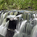 Odom Creek Waterfall Georgia by Charles Beeler