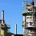 Oil Refinery by Henrik Lehnerer