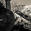 Old Black Locomotive Engine Details by Alex Grichenko