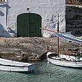 Typical Mediterranean Fishermen Boat And House In Minorca Island - Old Fishermen Villa by Pedro Cardona Llambias