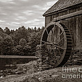 Old Grist Mill Vermont by Edward Fielding